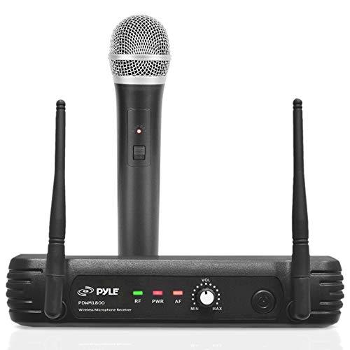 Pyle UHF Wireless Microphone System - Professional Dynamic Wireless Mic...