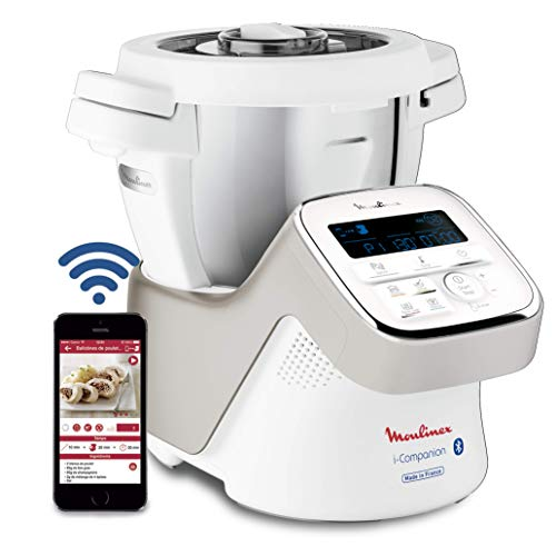 Moulinex i-Companion HF900110 - Robot de cocina Bluetooth 13 programas y 6 accesorios, capacidad 6 personas, incluye cuchilla...
