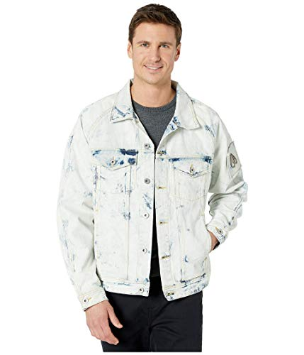 Bleached Denim Jacket for Men