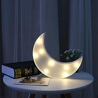 Vimlits Lovely Moon LED Night Lights Warm White 8 LED Lights for Kids Children Sweet Nursery Room Decorations Kids Gift To...