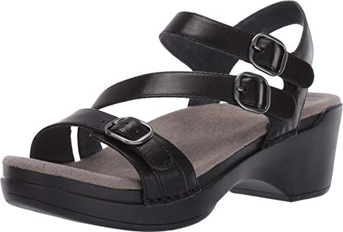Dansko Women's Sacha Black Sandals 11.5-12 M US