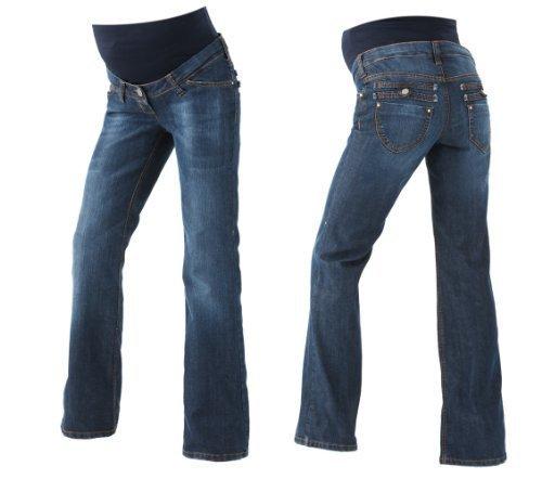 Christoff Jeans pour Femmes Pantalon de Grossesse Haute Couleur 367/95/84 - Bleu (Bleu), 34W x 36L