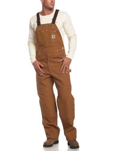 Carhartt Men's Duck Bib Overall Unlined R01,Carhartt Brown,40 x 30