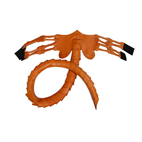 MSGJIAJU Alien Facehugger Kopfbedeckung - Halloween Party Scorpion, Claws Insect Requisiten Kostüm für Cosplay Party Supplies Maskerade Kopfbedeckung für Erwachsene