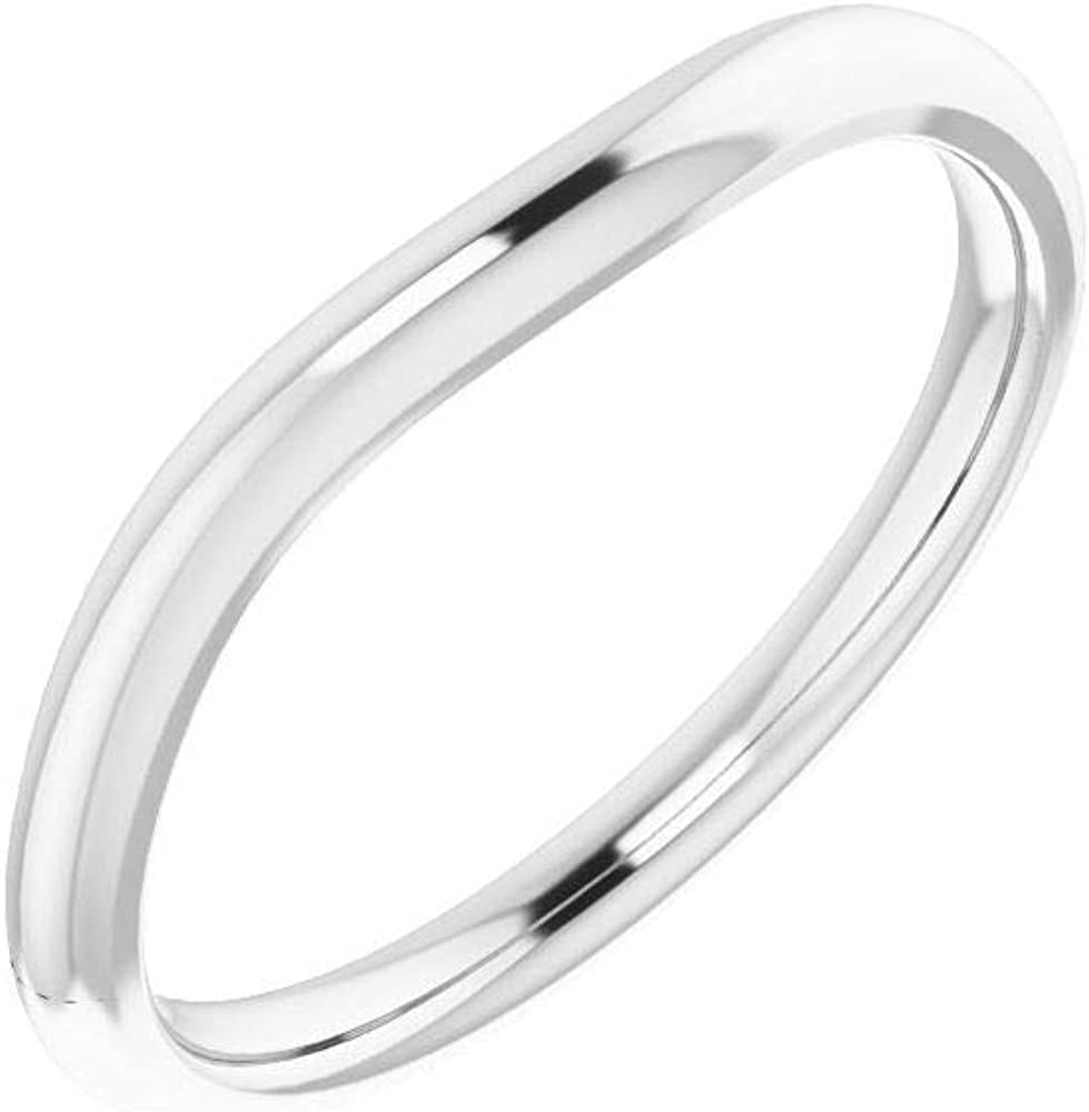 Solid Platinum Surprise price Curved Notched Outlet ☆ Free Shipping Wedding Band Square for Ring G 5mm