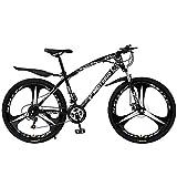Bicicleta de montaña Bicicleta de montaña de 21/24/27 velocidades Ruedas de 26 Pulgadas Bicicleta de Freno de Disco Doble para un Camino, Sendero y montañas (tamaño: 27 velocidades, Color: Blanco)