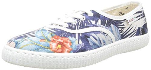 Victoria Ingles Flores Y Corazones - Zapatillas Unisex Adulto, Blanco (Blanc (20 Blanco)), 38