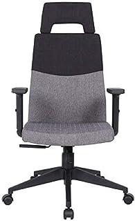 Silla casera oficina escritorio silla de computadora silla de computadora transpirable algodón esponja espesante silla de respaldo levantando pasamanos cojinete peso 150kg gris sillas de escritorio ZD