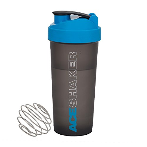 Jaypee Plus Plastic Shaker and Wire Blending Ball , Grey Blue,700ml