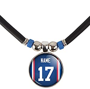 SpotlightJewels Buffalo Football Jersey Necklace Personalized with Your Name and Number