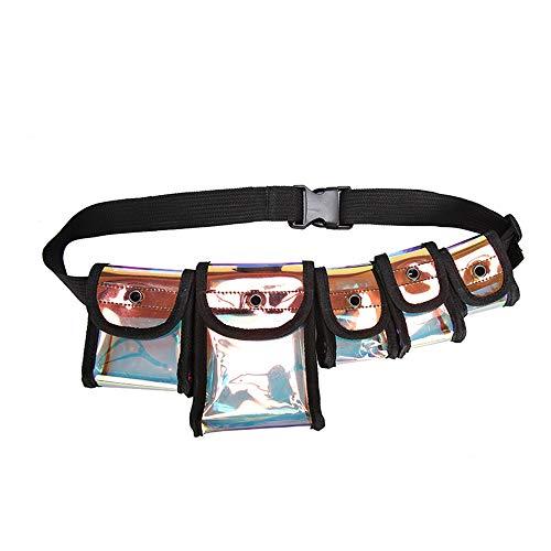 HEFUTE Laser Bag Borsa Riflettente Femminile Diagonalmente Trasparente Zaino Borsa A Tracolla, arancione (Laser), Taglia unica