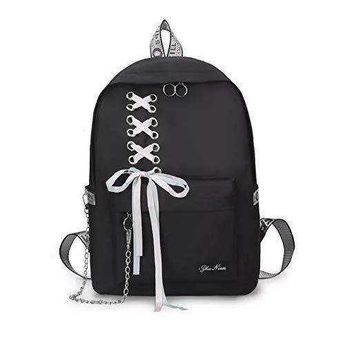 Diving Deep Preppy Style Fashion Waterproof Women Girls Backpack Korean Design Drawstring Chain travel College Office Bag Laptop Backpack