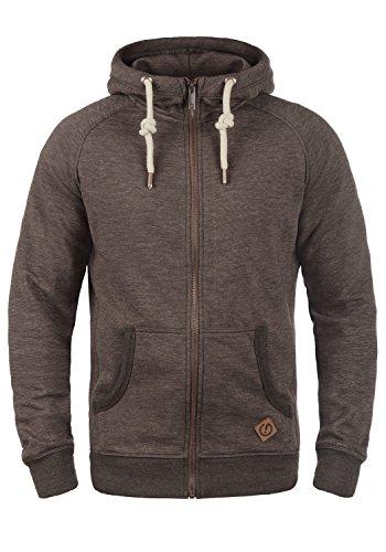 !Solid Vitu Herren Sweatjacke Kapuzenjacke Hoodie mit Kapuze und Reißverschluss, Größe:L, Farbe:Coffee Bean Melange (8973)