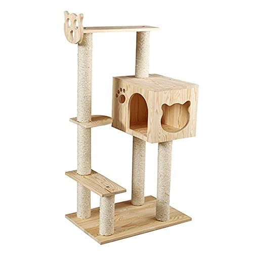 SMYONGPING Multi-Level Cat Tree Cat Climbing Frame - Deluxe Cat Tower Kitten Play House Modern Furniture Activity Center Suspension Bridge Ladder Pet Supplies cat Climbing Frame cat Bed Kennel mat