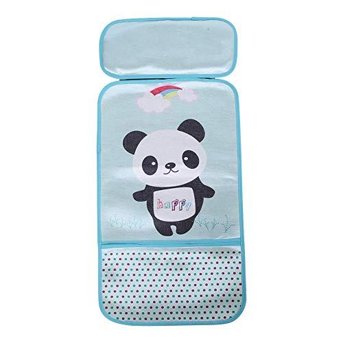 Zomer-kinderwagen ijsmatten-zuuglingskinderwagen koel zitcarikatuur-patroon baby-ijs-zijdekussen Panda Green