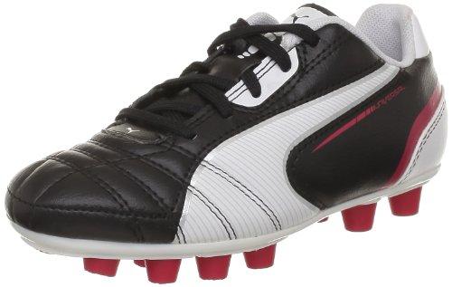 Puma Universal FG Jr 102701, Unisex-Kinder Fußballschuhe, Schwarz (black-white-ribbon red 02), EU 37.5 (UK 4.5) (US 5.5)