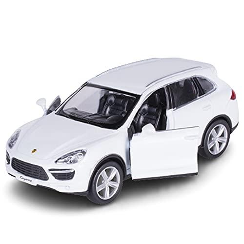 JUDRR Cayenne SUV 1:36 Modelo de Coche Juguetes, Modelo de decoración de Pasteles de aleación, Mini colección de niños Regalos,Blanco