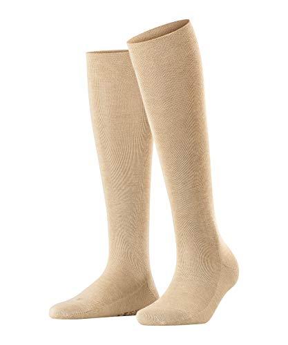 FALKE Damen Kniestrümpfe Sensitive London - 94% Baumwolle, 1 Paar, Beige (Sand Melange 4659), Größe: 39-42