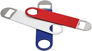 3 Pack - Red, White and Blue Flat Heavy Duty Stainless Steel Bottle Openers