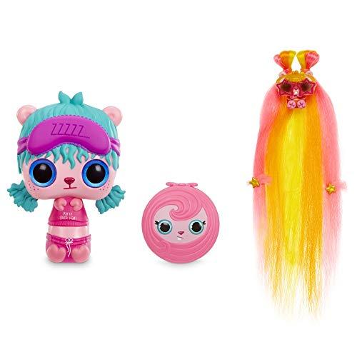 Giochi Preziosi Pop Pop Hair Surprise, Doll-Spazzole con Lunghe Ciocche in Tessuto Multicolore