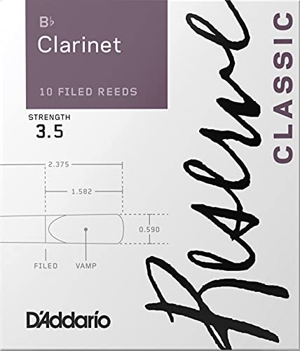 D'Addario Reserve Classic Bb Clarinet Reeds - Best Clarinet Reeds