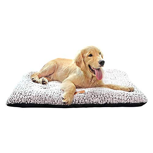 ULIGOTA Dog Bed Soft Plush Pet Bed for Medium/Large Dogs and Cats Fully Machine Washable Anti-Slip Pad for Dog Crate Categories