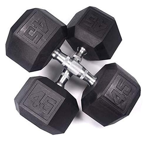 ZHENG Mancuernas Inicio Fitness Formación Personal Estudio Fitness Equipos De Fitness (Color : 45lb