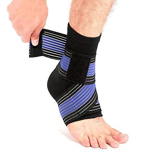 Enkelband 1 Stks Sport Enkel Strain Wraps Bandages Elastische Enkel Ondersteuning Brace Protector Voor Fitness Hardlopen
