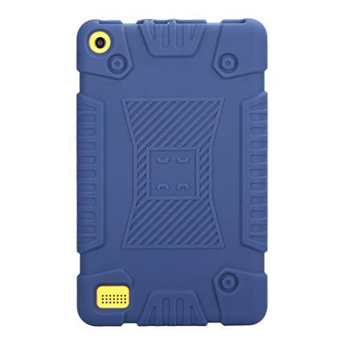 Capa de silicone Mobestech compatível com tablet Amazon Fire 7 2017 7ª geração de capa de gel de borracha macia (azul)