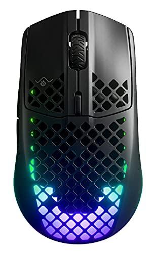 SteelSeries ゲーミングマウス 無線 ワイヤレス 2.4Ghz/Bluetooth USB-C高速充電対応 超軽量 IP54規格 防水 防塵 3ゾーンRGBイルミネーション Aerox 3 Wireless 62604