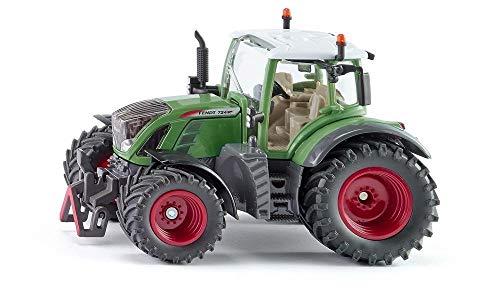 SIKU 3285, Fendt 724 Vario Traktor, 1:32, Metall/Kunststoff, Grün, Achsschenkellenkung und Kupplung