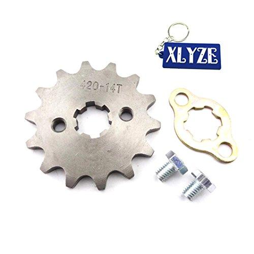 xlyze 420 14 Tooth 17 mm engrenage de pignon de chaîne avant pour 50 cc 70 cc 90 cc 110 cc 125 cc ATV Pit Dirt Trail Bike