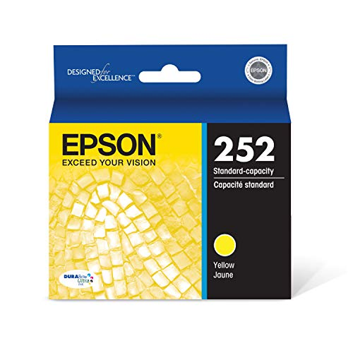 EPSON T252 DURABrite Ultra Ink Standard Capacity Yellow Cartridge (T252420-S) for select Epson WorkForce Printers