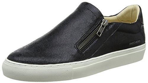 Skechers Vaso-Brillo, Zapatillas Sin Cordones Mujer, Negro (Blk), 40 Eu