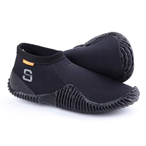SARHLIO Neoprenowe buty do nurkowania 3 mm z antypoślizgową gumową podeszwą, kombinezon neoprenowy, buty do sportów wodnych, nurkowania, pływania kajakiem (M15)