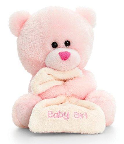 Lashuma Plüschtier Bär, Pipp The Bear Kuscheltier Baby Girl mit Schmusetuch Rosa, Stofftier 14 cm
