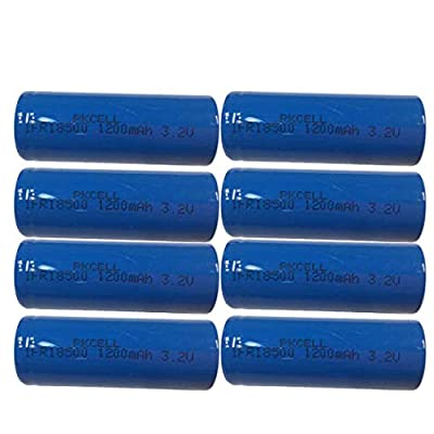 IFR18500 1200mAh 3.2v LiFePO4 Lithium Phosphate Rechargeable Batteries