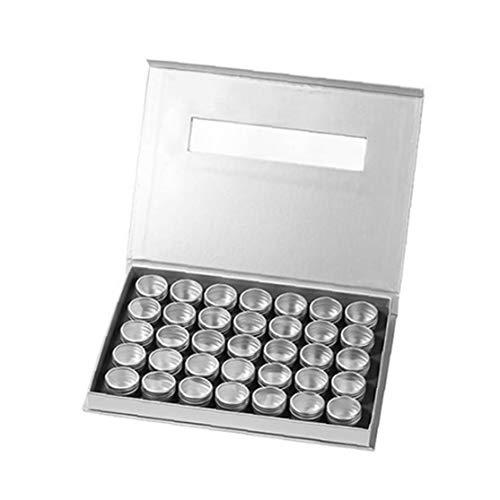 Nail Art boîte de rangement cosmétiques Jar diamant Boîte de rangement Organisateur Bijoux Maquillage Organisateur Les emballages vides poudre Case Argent cosmétiques Pièces