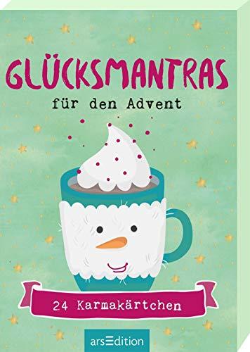Glücksmantras für den Advent: Adventskalender Kartenbox mit 24 Karmakärtchen
