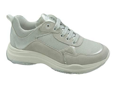 ASSO AG 1400 Chaussures de Course pour Fille - Blanc - Blanc, 38 EU EU