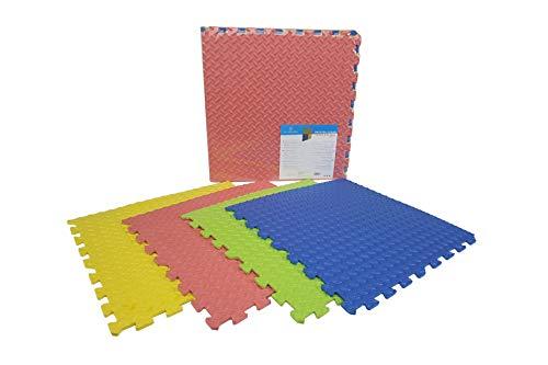 BALDOSA EVA Color | Espuma EVA Suelo 60X60 (4 PZAS) | Alfombra PUZLE Multicolor