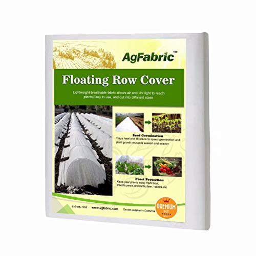 Agfabric Plant Cover Freeze Protection,0.95Oz,10'X100',Floating Row Cover for Winter Cold Weather Protection Season Extension