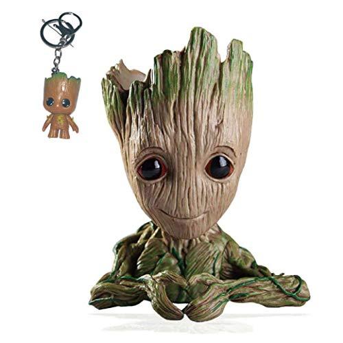 Kyhon Baby Groot Maceta - Maravillosa Figura de acción de Guardians of The Galaxy para Plantas y bolígrafos y Plumas Decoración de Habitaciones para niños de Familia, macetas-Forma de corazón