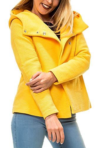 ONLY Damen Kurzmantel mit Kapuze Übergangsjacke (S, Colour 3)