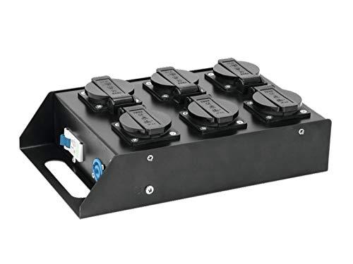 EUROLITE SAB-61 Stromverteiler | Roadtauglicher 6-fach Stromverteiler mit P-Con Ein- und Ausgang