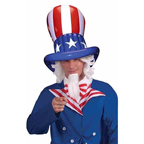 MyPartyShirt Patriotique Gonflable Haut Chapeau de Drapeau étoiles Stripes USA États-Unis Amérique