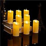 EODPOT LED sin Llama Portacandelitas, 12 Piezas de la luz del té, Velas con Parpadeo ámbar LED titulares, Últimos 90 Horas, para Casarse, Oferta, cumpleaños Sorpresa, Fiest 11.5