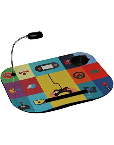 Gewatteerd en praktisch laptop-dienblad met kleurrijk design van Gadgets met LED-verlichting - thuis en meer