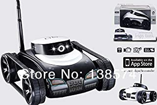 Accessories Hot New Toys App-Controlled Wireless 4Ch i-Spy Tank with Camera for iPhone, iPod Touch and iPad/RC Toy Car