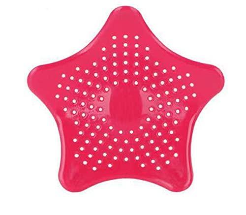 Filtro de Fregadero Cocina Creativa Filtro de Drenaje Alcantarillado Drenaje Cabello Colador Cuarto de baño Herramienta de Limpieza Herramienta Accesorios Accesorios Gadget (Color : Red)